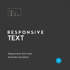 Text responsive