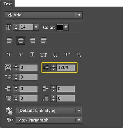 Line Height or leading for making a button in Muse