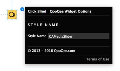 QooQee Adobe Muse Click Blind Widget